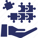 jigsaw, puzzle, strategy, team building, together icon