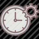alarm, bell, clock, punctual icon