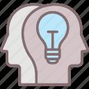 bulb, develop idea, idea, shared vision, vision