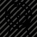 financial, goal, money, profit, target, target profit icon