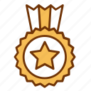achievement, award, business, medal, star, success, winner icon