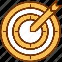 achievement, aim, arrow, business, focus, goal, target icon