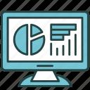 analytics, chart, data, graph, internet, monitor, online icon