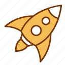 business, entrepreneur, launch, new, rocket, spaceship, startup icon