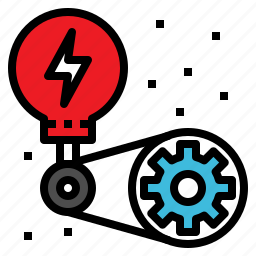 creative, gear, lightbulb, operation, startup icon