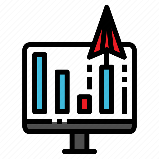 analysis, business, graph, paper, plane icon
