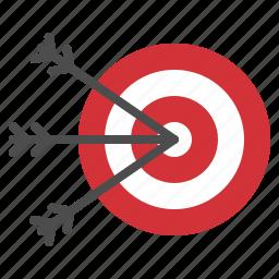 arrow, business, dart, success, target icon