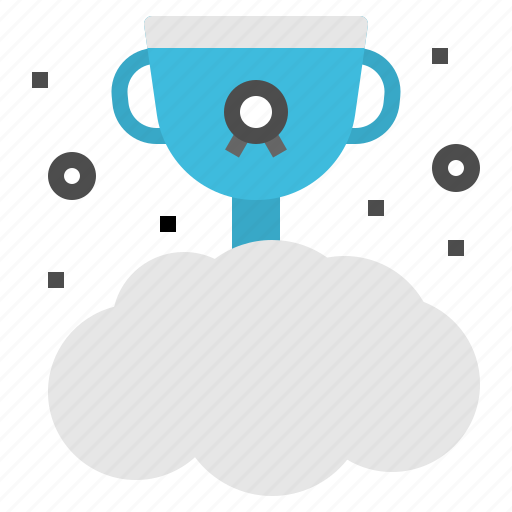 cloud, concept, reward, trophy, winner icon