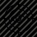 eye, focus, goal, view icon