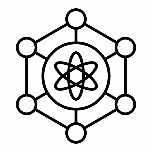 atom, connection, network, science icon