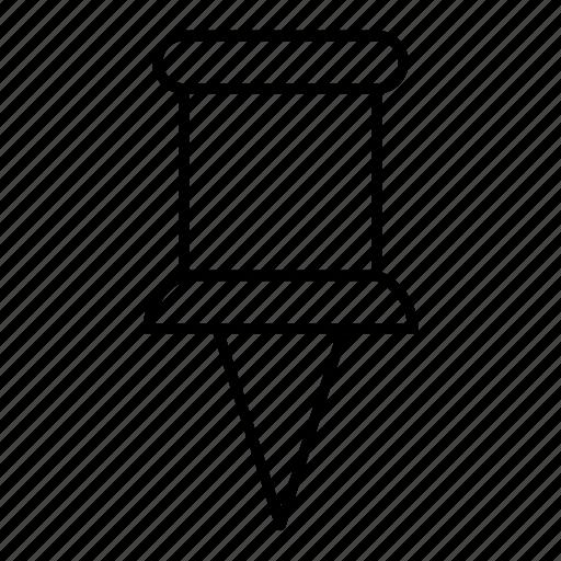 pin, stationary, thumbtack, tools icon