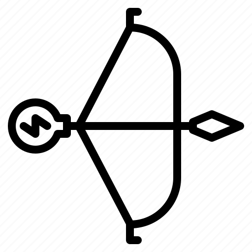 arrow, bow, creative, idea, weapon icon