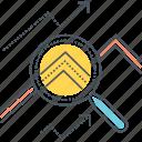 analysing data, analysis, analyzing data, data analysis, data analytics, data research, deep dive icon
