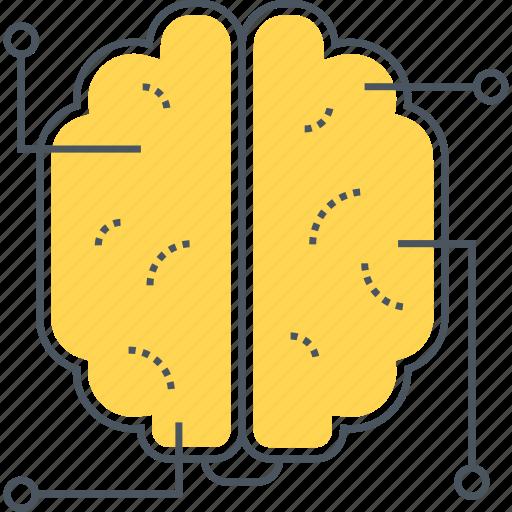 artificial intelligence, brain, brainstorm, brainstorming, intelligence, mind, thinking icon