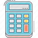 accounting, budget, calculations, calculator, finance, financial, math icon