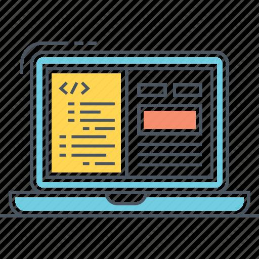 code, coding, html, javascript, programming, web deign, web development icon