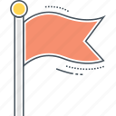 banner, bunting, flag icon