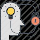 idea, idea protection, intellectual property, ip, protection, secret, security icon