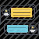 comment, communication, conversation, message, talk, text icon