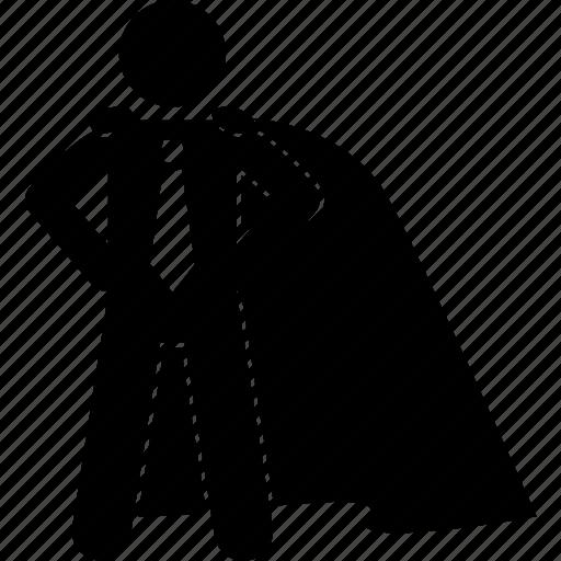 Hero, business, savior, superhero, super, heroic, superman icon