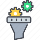 data filter, digital conversion, funnel analysis, web conversion funnel, website conversion icon