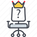 question, vacancy, hiring, vacant, job icon, chair, job seeking icon