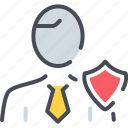 compliance officer, guard, officer, security icon, shield icon