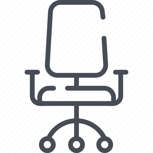 boss chair, office chair, rotating, seat, swivel chair icon