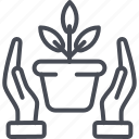 concern, planting, prosperity, protection concept, responsibility icon