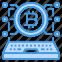 bitcoin, cryptocurrency, digital, laptop, money
