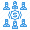 business, interconnection, network, strategy, team icon