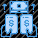 banking, business, digital, internet, money, smartphone icon