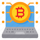 bitcoin, cryptocurrency, digital, laptop, money