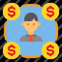 businessman, financial, money, network, teamwork