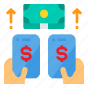 banking, business, digital, internet, money, smartphone icon
