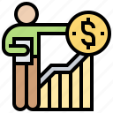 appraisal, chart, evaluation, financial, survey icon