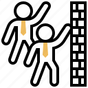 scheme, competitive, strategy, barrier, wall icon