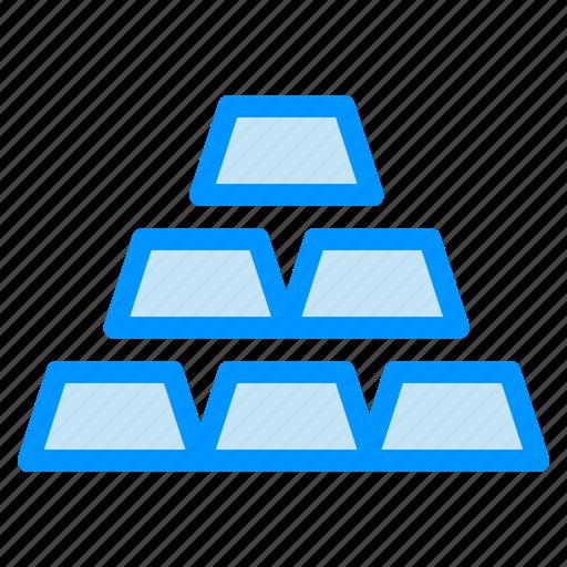 Bar, bricks, gold, stack icon - Download on Iconfinder
