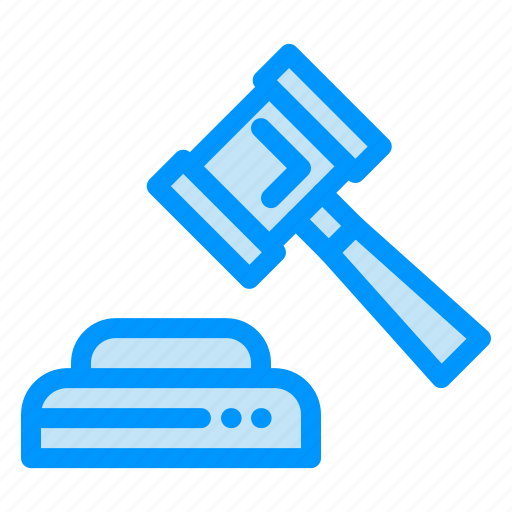 Court, hammer, law icon - Download on Iconfinder