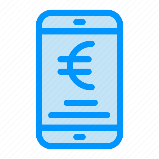 Euro, mobile, online, payment, shopping icon - Download on Iconfinder
