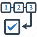 management, plan, planning, project, strategy, workflow icon