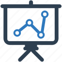 analytics, chart, graph, presentation, projector, seo, statistics icon