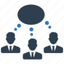 business, communication, community, meeting, message, users icon