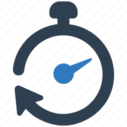 deadline, return, rewind, stopwatch, time, timer icon