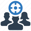 audience, costomer, target icon