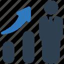 business growth, businessman, finance, graph, statistics, success icon