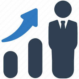 business growth, businessman, finance, graph, statistics, success icon