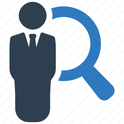 avatar, businessman, find, magnifier, profile, search, user icon