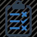audit, exam, report, research, survey, tesing, test icon