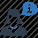 business, businessman, help, info, information, support icon